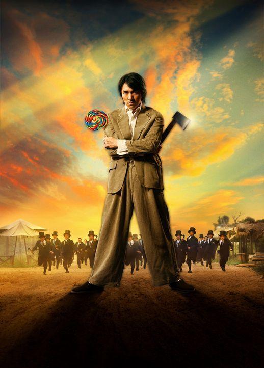 """Im Shanghai der 40er Jahre hat der glücklose Möchtegern-Gangster Sing einen großen Traum: Er möchte in die berühmt-berüchtigte """"Axt-Gang"""" aufgenomme... - Bildquelle: 2004 Columbia Pictures Film Production Asia Limited. All Rights Reserved."""