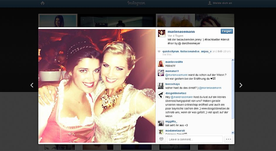 Oktoberfest-Marie-Nasemann-Jennifer-Knäble-13-09-23-Instagram Kopie - Bildquelle: Instragram/Marie Nasemann