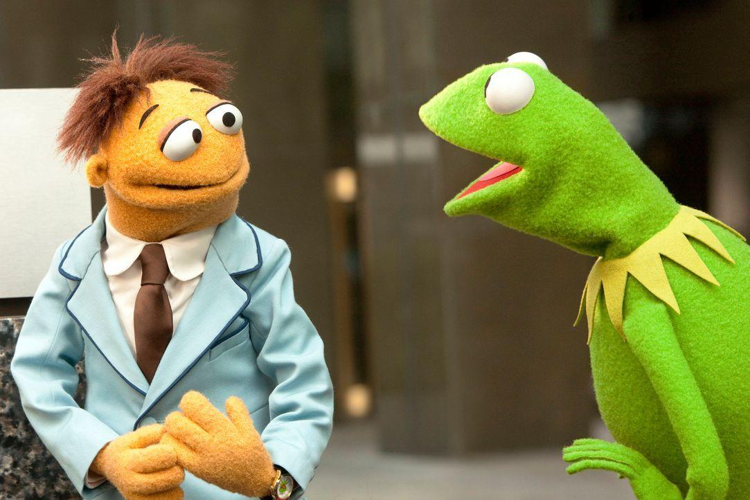 Gelingt es Walter (l.) und Kermit (r.), die große Muppets-Spendenshow vor Sabotagen der Muppets-Gegner zu bewahren? - Bildquelle: The Muppets Studio, LLC. All rights reserved