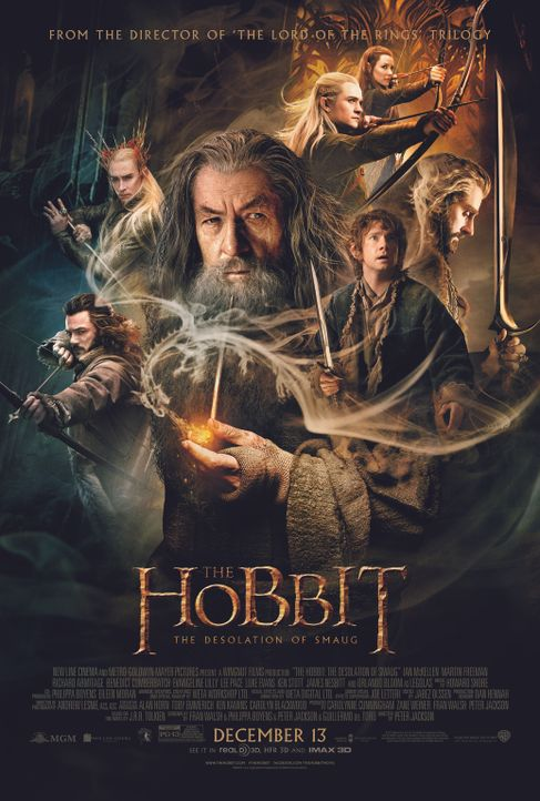 DER HOBBIT: SMAUGS EINÖDE - Plakatmotiv - Bildquelle: 2013 METRO-GOLDWYN-MAYER PICTURES INC. and WARNER BROS. ENTERTAINMENT INC.