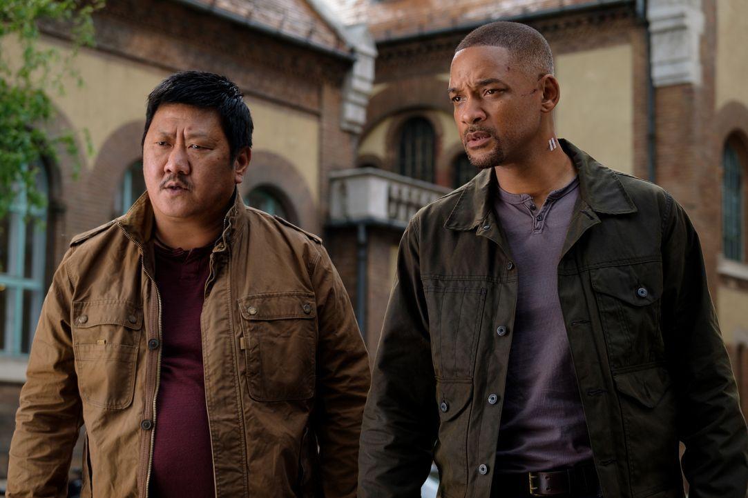 Baron (Benedict Wong, l.); Henry Brogan / Junior (Will Smith, r.) - Bildquelle: Ben Rothstein 2019 Paramount Pictures. All Rights Reserved. / Ben Rothstein
