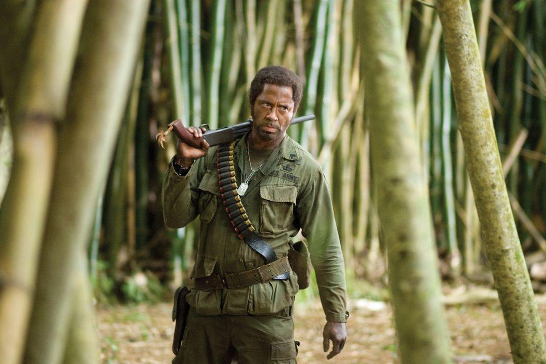 Geht in die Vollen: Um seine Rolle möglichst authentisch rüberbringen zu können, lässt sich der Oscar-Preisträger Kirk Lazarus (Robert Downey Jr.) d... - Bildquelle: 2008 DreamWorks LLC. All Rights Reserved.
