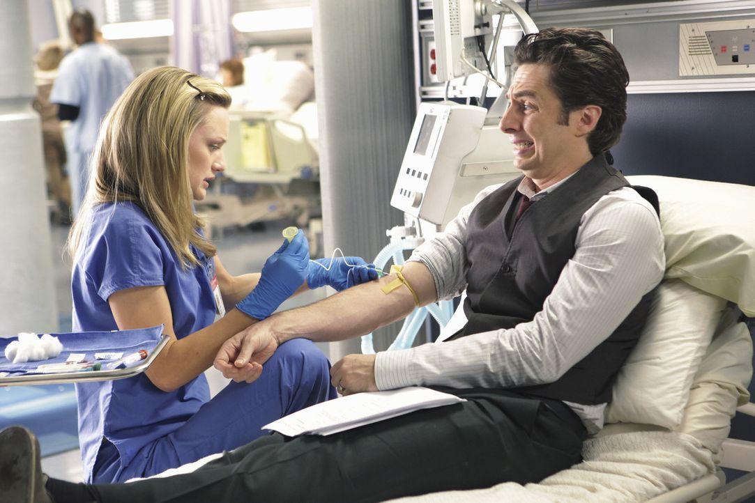 Lucy (Kerry Bishe, l.) hat Schwierigkeiten, ohne J.D.s (Zach Braff, r.) Hilfe eine Prüfung zu bestehen ... - Bildquelle: Touchstone Television