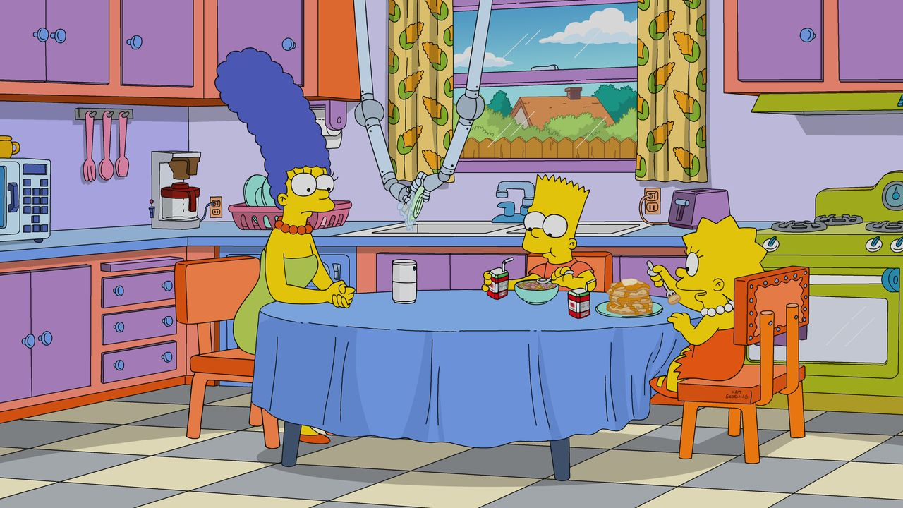 (v.l.n.r.) Marge; Bart; Lisa - Bildquelle: 2019-2020 Twentieth Century Fox Film Corporation.  All rights reserved.