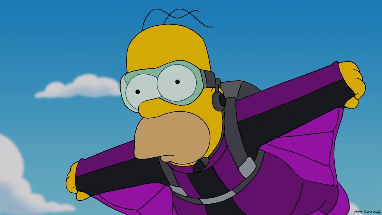 """Marge ermutigt Homer, sein neues Motto """"You-Only-Live-Once"""" auszuleben - was allerdings nicht ganz ungefährlich ist ... - Bildquelle: 2013 Twentieth Century Fox Film Corporation. All rights reserved."""
