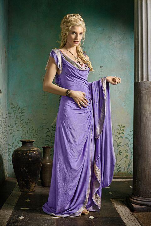 Glabers Ehefrau Ilithyia (Viva Bianca) ist die Tochter des Senators Albinius. Mit dessen Hilfe will sie eine Scheidung erzwingen, um den größten W... - Bildquelle: 2011 Starz Entertainment, LLC. All rights reserved.