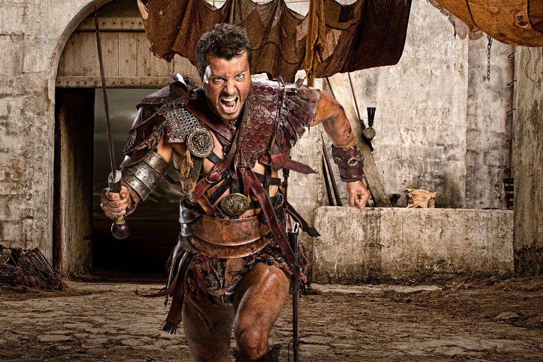 Fürchtet weder Tod noch Teufel, einzig, dass Nasir ein Leid angetan wird: Agron (Daniel Feuerriegel) ... - Bildquelle: 2012 Starz Entertainment, LLC. All rights reserved.