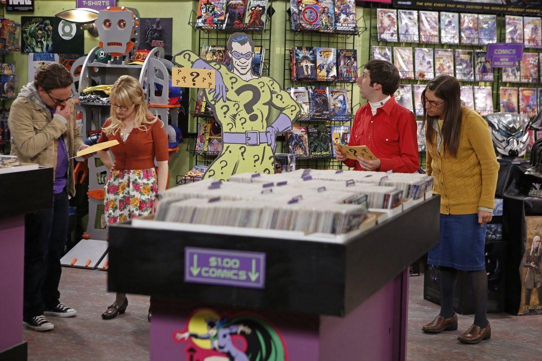 Während Howard (Simon Helberg, 2.v.r.) und Amy (Mayim Bialik, r.) bei der Schnitzeljagd feststellen, dass sie mehr gemeinsam haben als gedacht, muss... - Bildquelle: Warner Brothers
