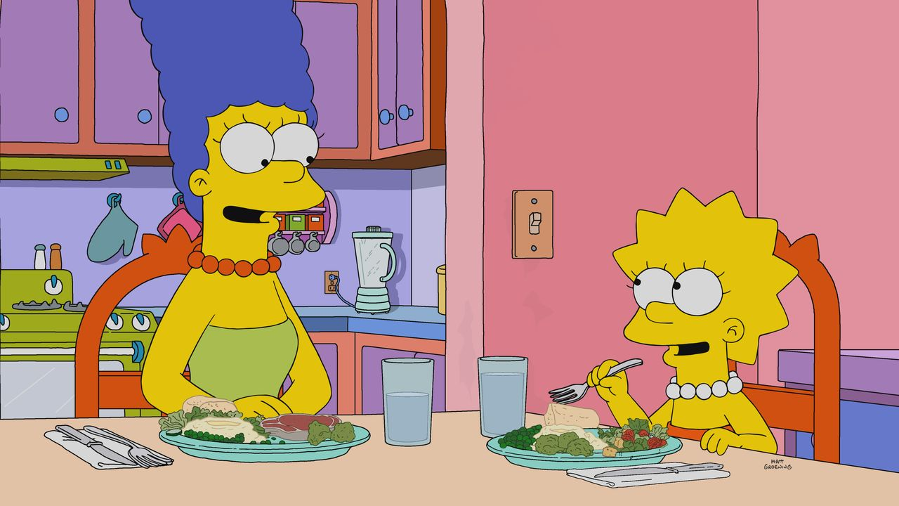 Marge (l.); Lisa (r.) - Bildquelle: 2019-2020 Twentieth Century Fox Film Corporation.  All rights reserved.