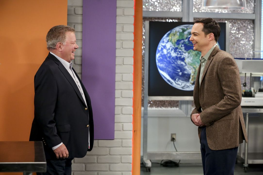 William Shatner (William Shatner, l.); Sheldon Cooper (Jim Parsons, r.) - Bildquelle: Michael Yarish 2019 CBS Broadcasting, Inc. All Rights Reserved / Michael Yarish