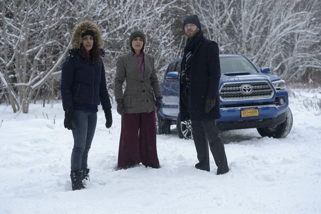 Die Suche nach dem wahren Täter geht weiter: Nimah (Yasmine Al Massri, M.), Ryan (Jake McLaughlin, r.) und Alex (Priyanka Chopra, l.) ... - Bildquelle: Philippe Bosse 2015 ABC Studios