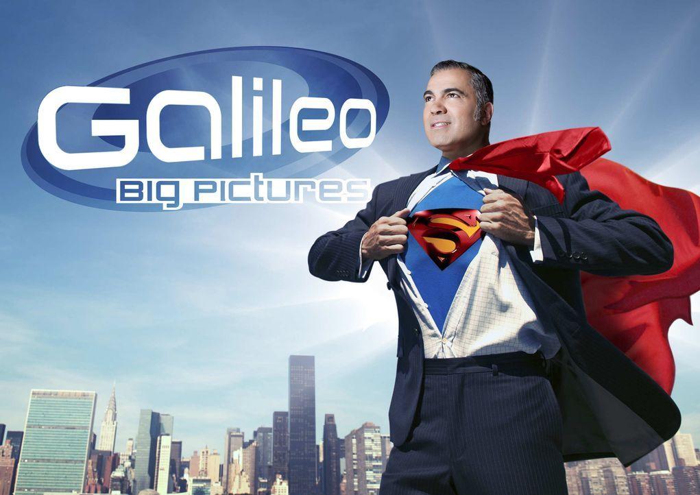 """""""Galileo Big Pictures"""" wird von Aiman Abdallah präsentiert. - Bildquelle: ProSieben/Benedikt Mueller + iStock"""
