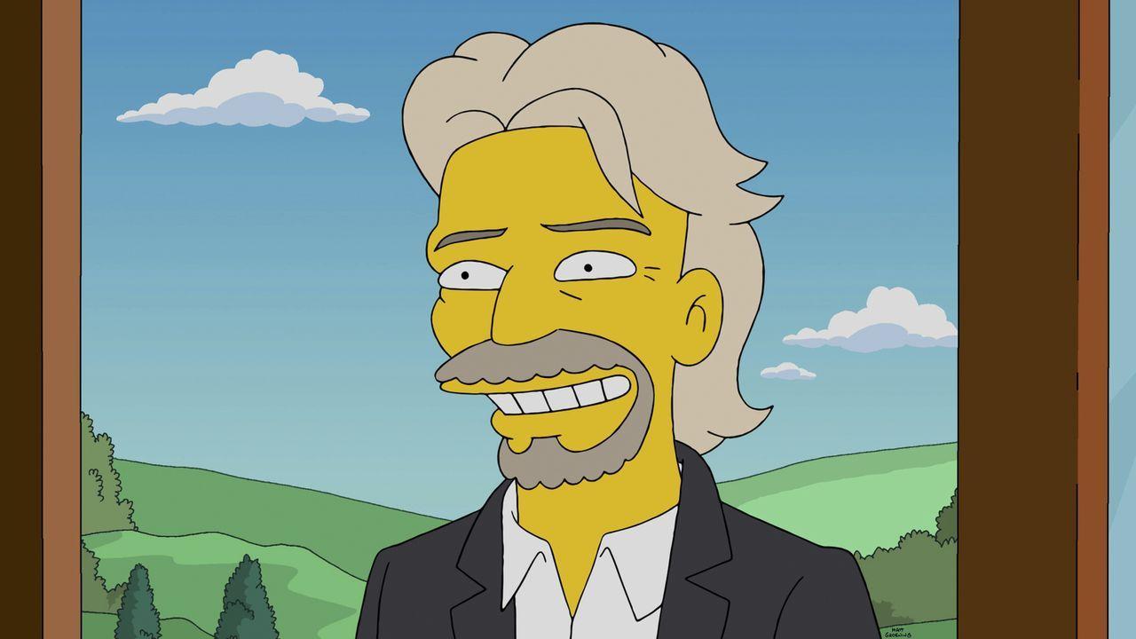 Wie soll sich Mr. Burns nur konzentrieren, wenn ihn sein exzentrischer Milliardärsnachbar Richard Branson (Richard Branson) ständig nervt? - Bildquelle: 2014 Twentieth Century Fox Film Corporation. All rights reserved.