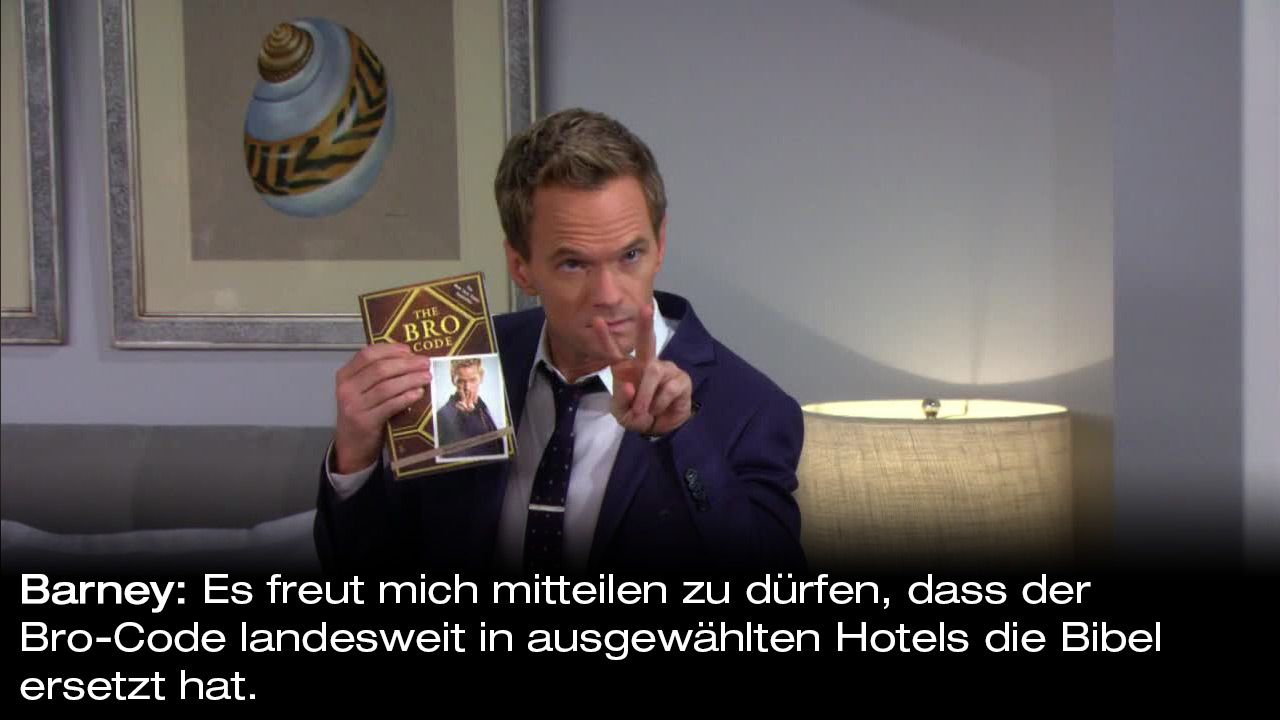 How-I-Met-Your-Mother-Zitate-Staffel-9-18-Barney-haendchenhalten - Bildquelle: 20th Century Fox Film Corporation all rights reserved.