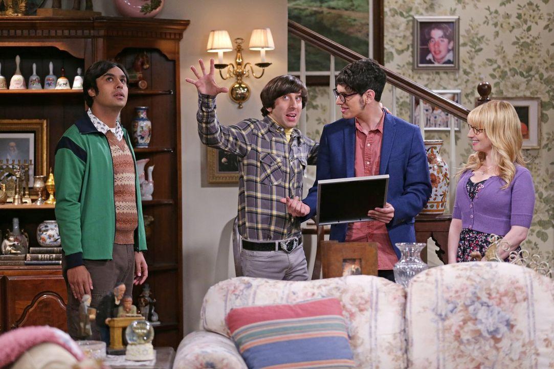 Eines wissen Bernadette (Melissa Rauch, r.) und Raj (Kunal Nayyar, l.) mit Sicherheit: Wenn Howard (Simon Helberg, 2.v.l.) mit magischen Tricks anfä... - Bildquelle: Warner Bros. Television