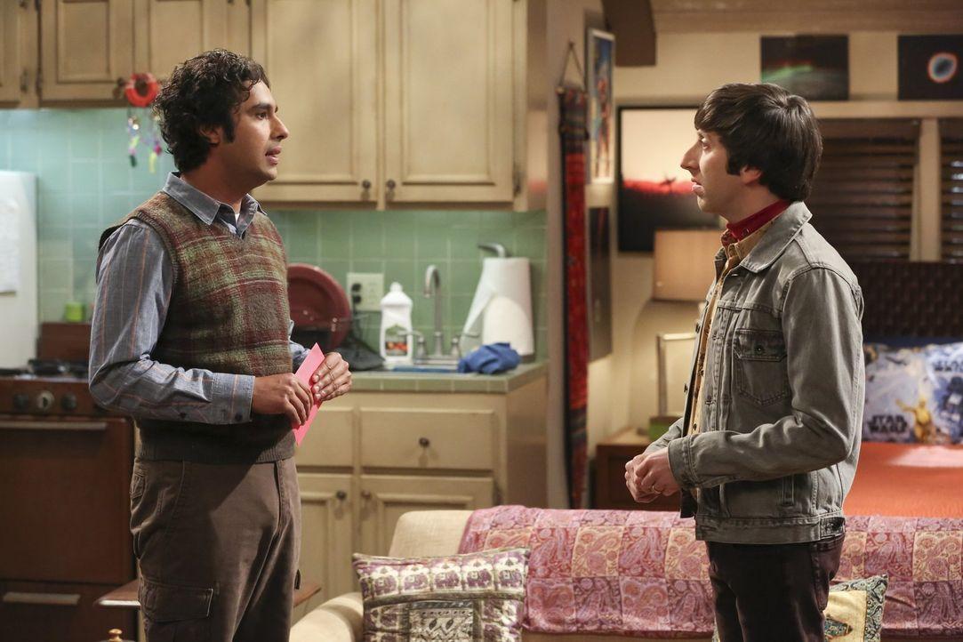 Der Konflikt zwischen Raj (Kunal Nayyar, l.) und Howard (Simon Helberg, r.) droht zu eskalieren, und dann müssen sie auch noch zusammenarbeiten, um... - Bildquelle: Warner Bros. Television