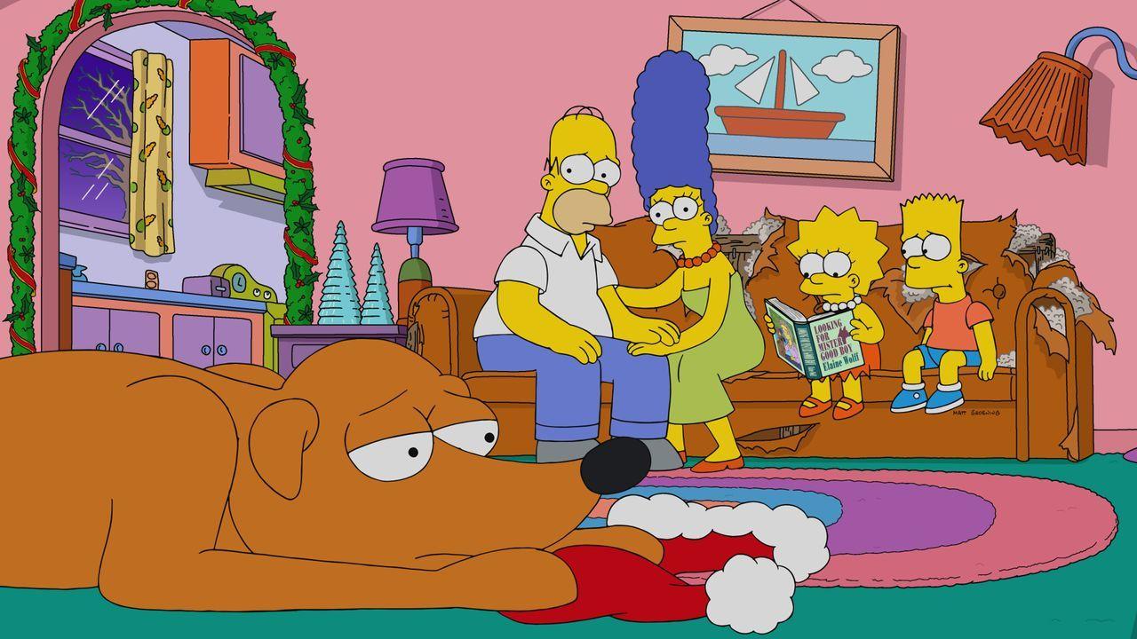 (v.l.n.r.) Knecht Ruprecht; Homer; Marge; Lisa; Bart - Bildquelle: 2019-2020 Twentieth Century Fox Film Corporation.  All rights reserved.