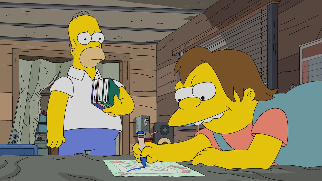 Homer (l.); Nelson (r.) - Bildquelle: 2019-2020 Twentieth Century Fox Film Corporation.  All rights reserved.