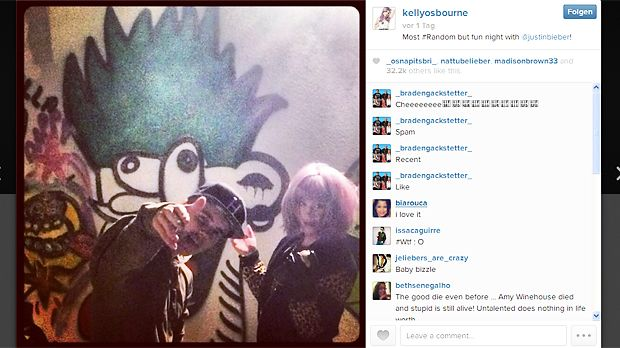 Justin-Bieber-Kelly-Osbourne-13-01-09-Instagram - Bildquelle: Instagram/Kelly Osbourne