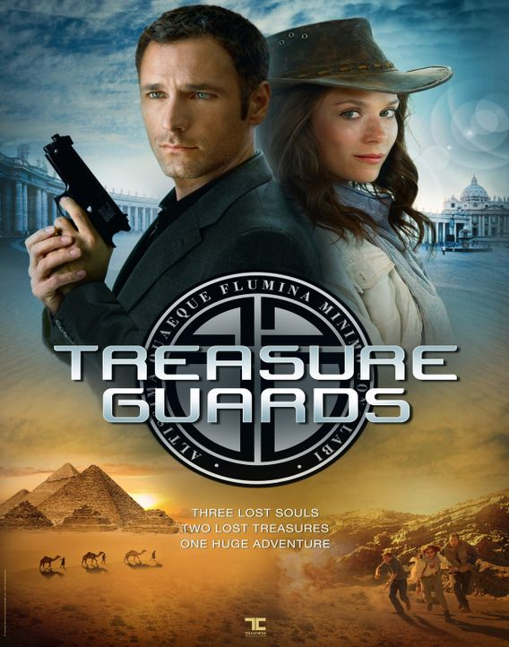 TREASURE GUARDS - Plakatmotiv - mit Raul Bova, l. und Anna Friel, r. - Bildquelle: Tandem Communication GmbH & Film Afrika Worldwide (Pty) Limited South Africa