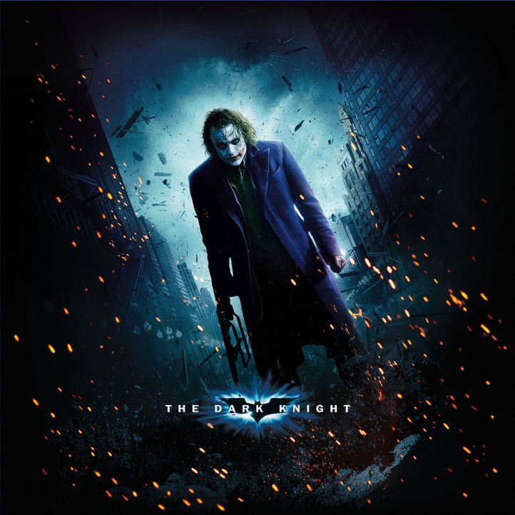 THE DARK KNIGHT - Artwork - mit Heath Ledger als Joker - Bildquelle: Warner Bros.