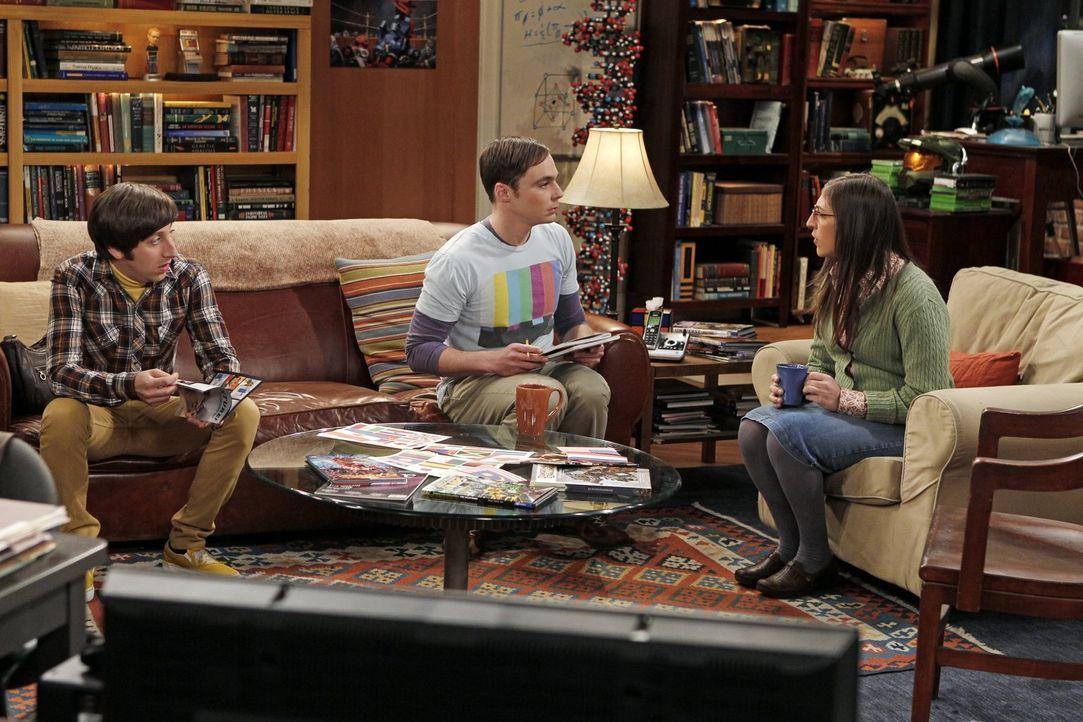 Ein geplantes Spielewochenende der Jungs sorgt für Ärger: Howard (Simon Helberg, l.), Sheldon (Jim Parsons, M.) und Amy (Mayim Bialik, r.) ... - Bildquelle: Warner Bros. Television