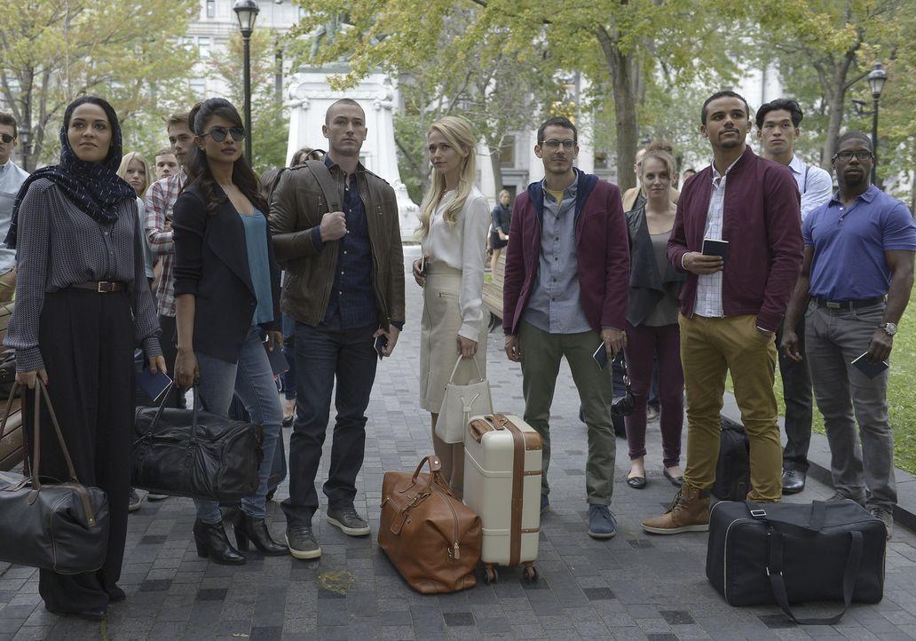 Der erste Undercover-Einsatz wartet auf die zukünftigen Agenten: Alex (Priyanka Chopra, 2.v.l.), Ryan (Jake McLaughlin, 3.v.l.), Nimah (Yasmine Al M... - Bildquelle: 2015 ABC Studios