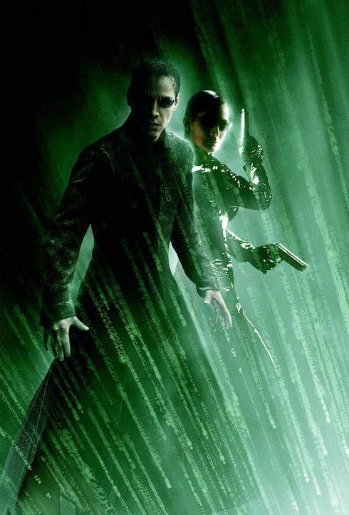 Matrix Reloaded mit Keanu Reeves, l. und Carrie-Anne Moss, r. ... - Bildquelle: Warner Bros.