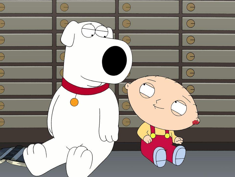 Durch einen dummen Zufall werden Brian (l.) und Stewie (r.) im Tresorraum einer Bank eingesperrt ... - Bildquelle: 2007-2008 Twentieth Century Fox Film Corporation. All rights reserved.