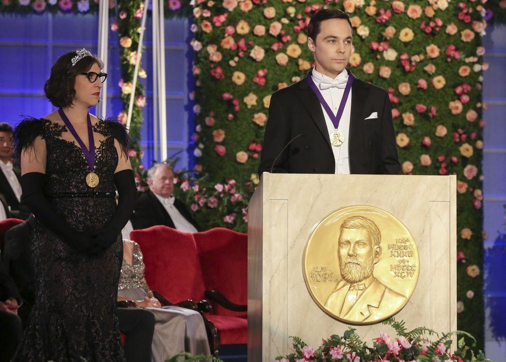 Amy Farrah Fowler (Mayim Bialik, l.); Sheldon Cooper (Jim Parsons, r.) - Bildquelle: Michael Yarish 2019 CBS Broadcasting, Inc. All Rights Reserved / Michael Yarish