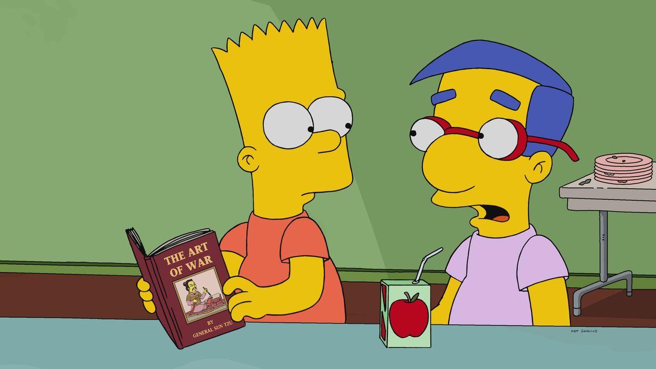 Um die Familie wieder enger zusammenzubringen, zwingt Marge alle ihre elektronischen Geräte abzugeben und zusammen in einen Buchladen zu gehen. Milh... - Bildquelle: 2017-2018 Fox and its related entities.  All rights reserved.
