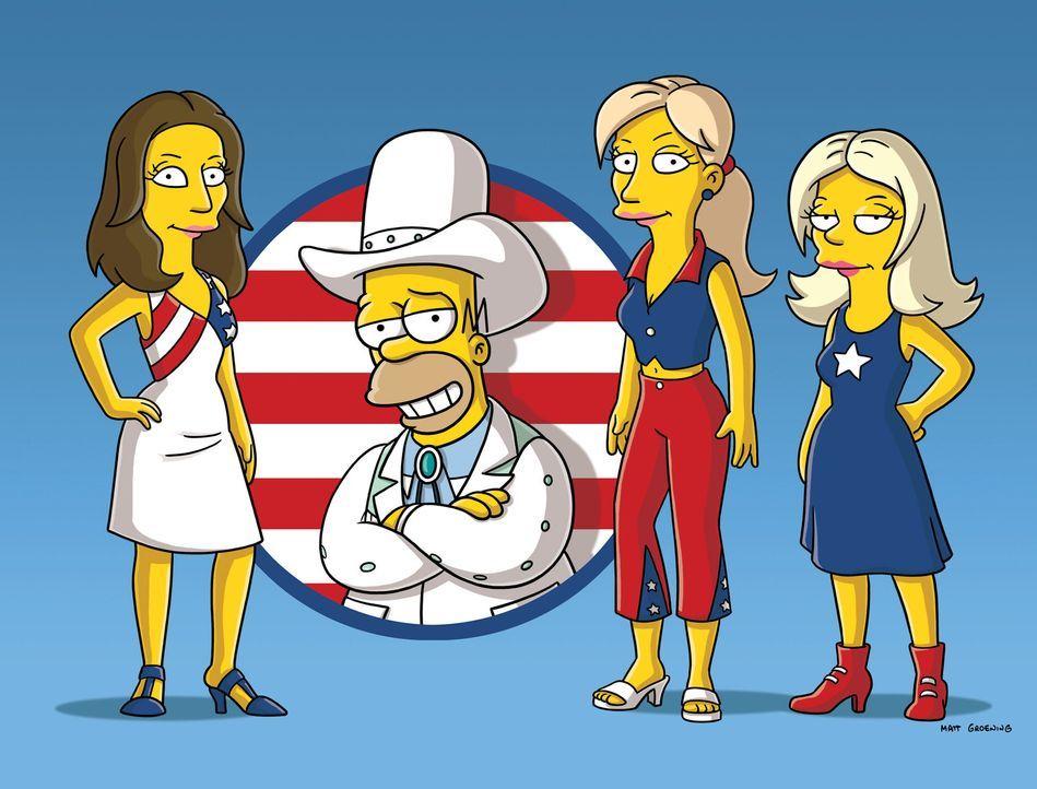 Homer (2.v.l.) und die Dixie Chicks ... - Bildquelle: und TM Twentieth Century Fox Film Corporation - Alle Rechte vorbehalten