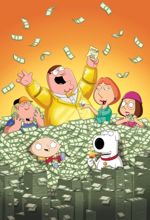 Was soll die Familie Griffin bloß mit dem ganzen Geld anfangen? - Bildquelle: 2011 Twentieth Century Fox Film Corporation. All rights reserved.