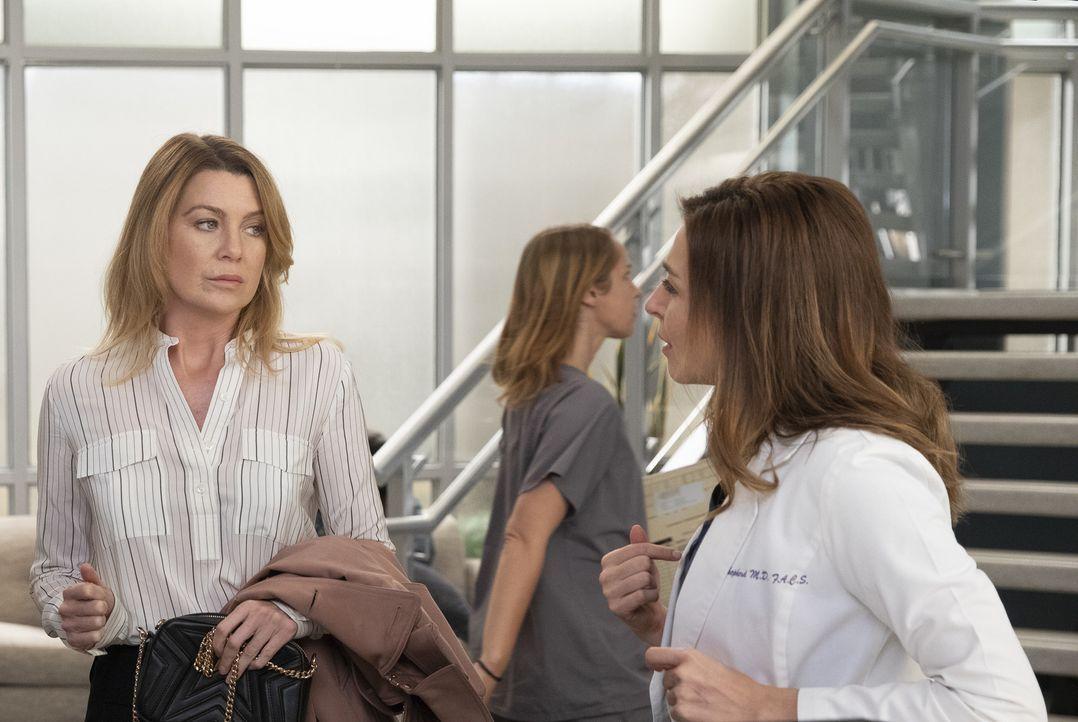 Dr. Meredith Grey (Ellen Pompeo, l.); Dr. Amelia Shepherd (Caterina Scorsone, r.) - Bildquelle: Rick Rowell ABC Studios/Rick Rowell