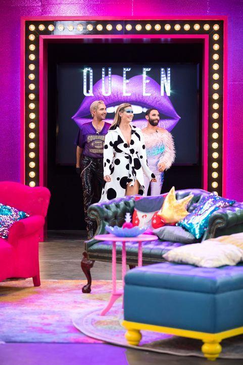 (v.l.n.r.) Bill Kaulitz; Heidi Klum; Conchita Wurst - Bildquelle: Martin Ehleben ProSieben / Martin Ehleben