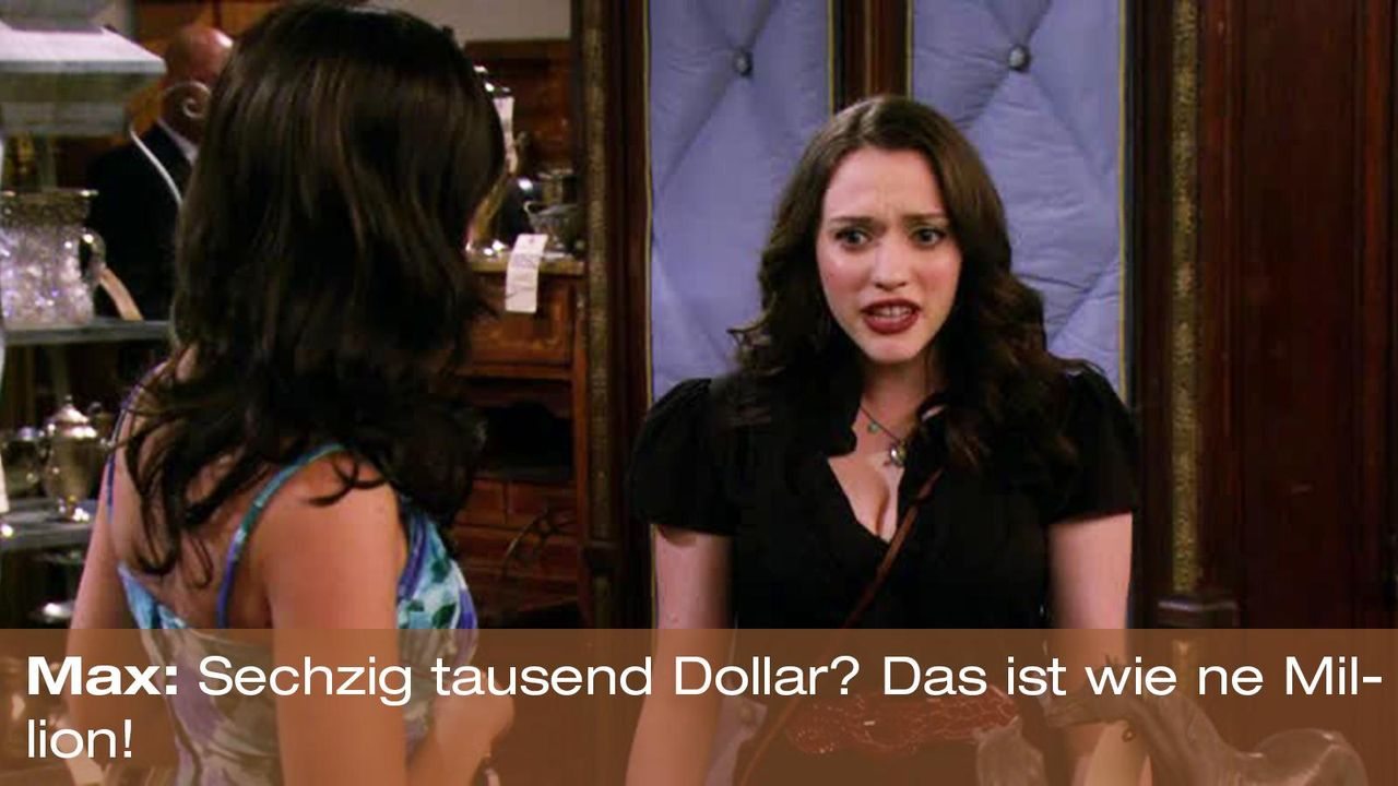 2-broke-girls-zitat-staffel2-episode2-kostbarer-pokal-max-million-warnerpng 1600 x 900 - Bildquelle: Warner Brothers Entertainment Inc.