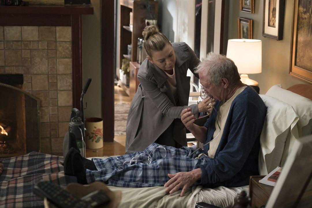 Meredith Grey (Ellen Pompeo, l.); Thatcher Grey (Jeff Perry, r.) - Bildquelle: Eric McCandless ABC Studios
