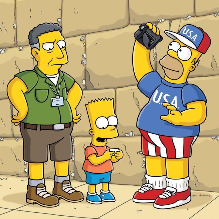 Ned Flanders hat es sich zur Aufgabe gesetzt, Homer (r.) endlich zu bekehren und ihn zu einem anständigen Menschen zu machen. Daher lädt er ihn un... - Bildquelle: und TM Twentieth Century Fox Film Corporation - Alle Rechte vorbehalten