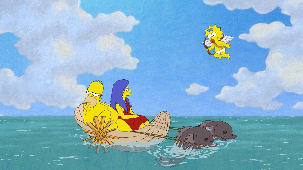 (v.l.n.r.) Homer; Marge; Maggie - Bildquelle: 2020 by Twentieth Century Fox Film Corporation.