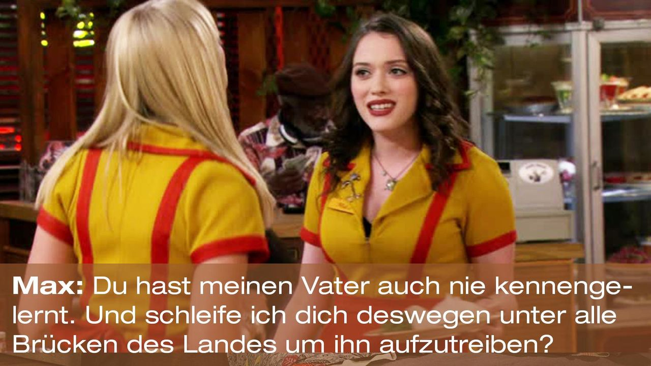 2-broke-girls-zitat-staffel2-episode2-kostbarer-pokal-max-vater-warnerpng 1600 x 900 - Bildquelle: Warner Brothers Entertainment Inc.