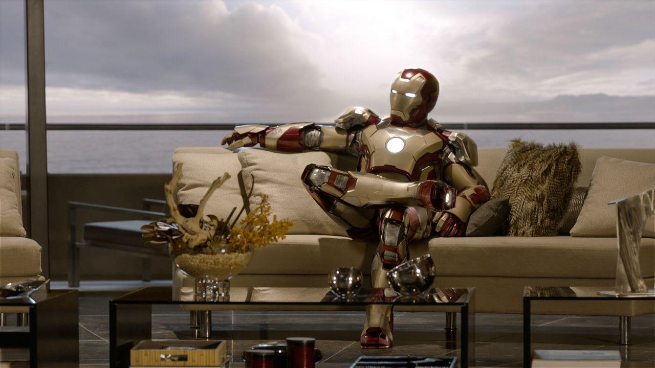 Tony Stark (Robert Downey Jr.) wird von dem mysteriösen Mandarin auf eine harte Probe gestellt. Um zu verhindern, dass noch mehr Terroranschläge die... - Bildquelle: TM &   2013 Marvel & Subs. All Rights Reserved.
