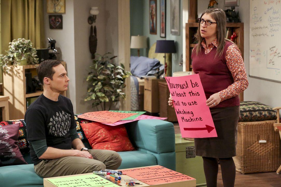 Bereiten sich auf die Wahl des Präsidenten der Mietervereinigung vor: Sheldon (Jim Parsons, l.) und Amy (Mayim Bialik, r.) ... - Bildquelle: Warner Bros. Television