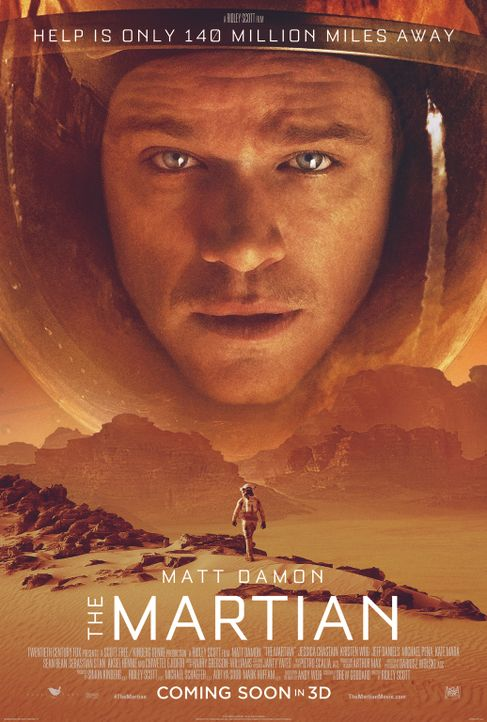 DER MARSIANER - RETTET MARK WATNEY - Plakat - Bildquelle: 2015 Twentieth Century Fox Film Corporation.  All rights reserved.