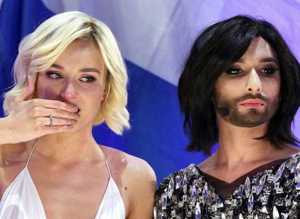 European-Song-Contest-ESC-Polina-Gagarina-Conchita-Wurst-150523-dpa - Bildquelle: dpa