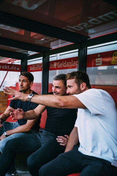 (v.l.n.r.) René Adler; Stefan Kuntz; Christian Düren - Bildquelle: Max Beutler ProSieben / Max Beutler