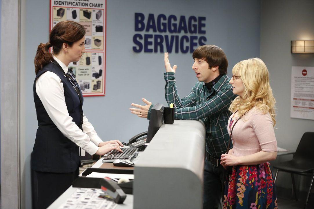 Während Penny und Sheldon an einem ganz besonderem Experiment teilnehmen wollen, haben Howard (Simon Helberg, M.) und Bernadette (Melissa Rauch, r.)... - Bildquelle: Warner Bros. Television