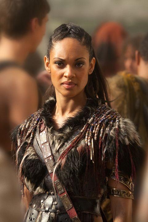 Treibt einen Keil zwischen Spartacus und Crixus - mit mörderischen Folgen: Naevia (Cyntha Addai-Robinson) ... - Bildquelle: 2012 Starz Entertainment, LLC. All rights reserved.
