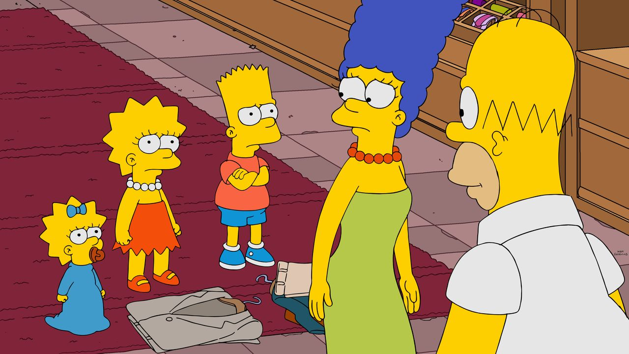 (v.l.n.r.) Maggie; Lisa; Bart; Marge; Homer - Bildquelle: 2019-2020 Twentieth Century Fox Film Corporation.  All rights reserved.