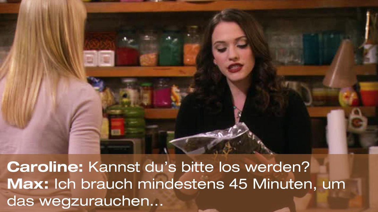 2-broke-girls-zitat-quote-staffel2-episode12-breite-weihnachten-max-45min-warnerpng 1600 x 900 - Bildquelle: Warner Bros. International Television