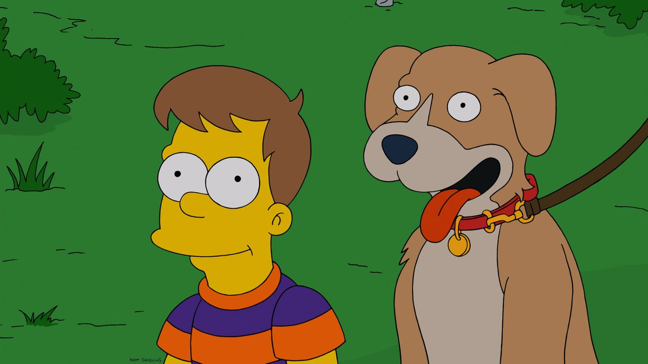 Als Homer Hund Knecht Ruprecht versehentlich im Schrank eingesperrt hat, unterstellt ihm seine Familie, den Vierbeiner nicht zu mögen. Das kann Gram... - Bildquelle: und TM Twentieth Century Fox Film Corporation - Alle Rechte vorbehalten